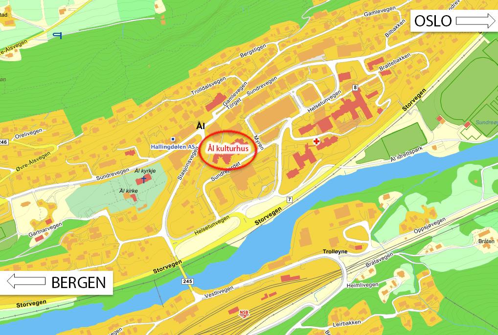 Ål kulturhus kart